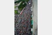 """""""대만 독립, 국민투표로 결정하자"""" 첫 대규모 시위"""