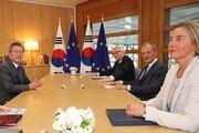 """靑 """"韓·EU 공동성명, CVID 이견에 무산?…명백한 오보"""""""