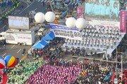 """""""다시 촛불을""""…6만 노동자대회, 총파업 결의 다지며 평화 해산"""
