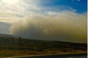 中서북부 올 겨울 첫 황사…100m 높이 모래폭풍벽 형성
