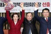 한국당 원내대표 나경원 선출… 복당파 견제한 친박 표 몰렸다