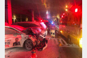 교통 사고로 불 난 차에 기절해있던 운전자 구한 택시기사