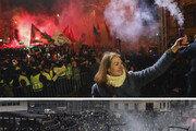 시위로 얼룩진 유럽