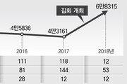 靑정문앞 신고않고 기습시위… 금속노조 지회장 영장