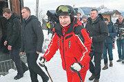해발 2000m서 스키 즐기는 푸틴