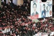 '한결 차분해진' 수도권 한국당 연설회…장외경쟁은 '후끈'
