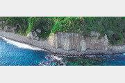 [드론으로 본 제주 비경]오각, 육각형 기둥으로 변한 용암의 신비