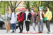 방탄소년단, 월드★ '뮤뱅' 출근길…아침부터 빛나는 비주얼