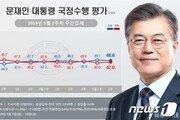 文대통령 국정지지도 48.6%…민주 38.7% vs 한국 34.3%