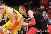 WNBA 박지수, 시즌 최다 12분44초…리바운드 5개