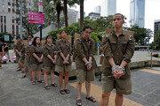 '범죄인 인도법' 항의… 홍콩 학생들 퍼포먼스