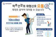 """""""요통 4개월 이상 지속되면 척추질환 의심"""""""