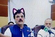 """""""우리 장관님은 고양이""""…페북 필터에 기자회견 '발칵'"""