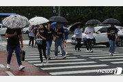 """[날씨] 오후 전국 곳곳 비 """"우산 챙기세요""""…경기·강원 우박도"""
