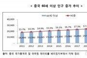 中 노인인구 2030년에는 25%…관광·의료·건강기능식품 '주목'