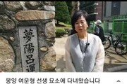[청계천 옆 사진관]손혜원 의원 근황 살펴보니