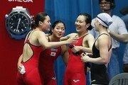 [광주세계수영]女 계영팀, 400m 대회 첫 한국 신기록 …3분42초58