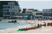 [청계천 옆 사진관]'서핑천국' 죽도해변 가로지르는 검은 물줄기, 정체는?