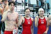 양재훈·이근아·정소은·박선관 혼성 계영 400m 한국新