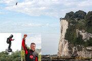 자신이 만든 플라이보드 타고 영국 해협 35km 훨훨… 佛발명가, 두번째 시도 끝 횡단 성공