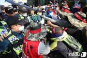 '경찰폭행 혐의' 현대重 노조지부장 등 3명 불구속 檢송치