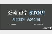 """""""교수님 부끄럽습니다""""…고대 이어 서울대도 23일 촛불집회"""