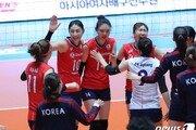 한국 女배구 태국 잡고 4강 진출…일본과 결승 티켓 다툼