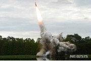 """합참 """"北 발사체, 단거리탄도미사일 추정…고도97㎞·380km비행"""""""
