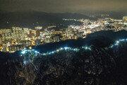 홍콩 시위대 60㎞ 인간띠 잇기 시위 펼쳐…'장관'