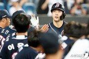두산 박건우, 4년 연속 두 자릿수 홈런