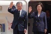 조국 사태로 무거운 순방…文대통령 '태·미·라' 향해 출국
