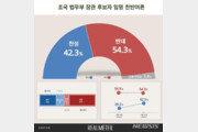 조국 임명 찬성 42.3% vs 반대 54.3%…찬성 늘고 반대 줄어