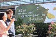 """""""벌레 먹어서 예쁜 나뭇잎""""… 교보생명 글판, 가을 단장"""