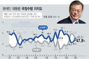 文대통령 지지율, 47.8%…지지층 결집에 2주 연속 상승