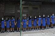 홍콩 중고생 수천명 9일 인간사슬 시위 벌여