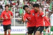 한국, 나상호˙정우영 연속골로 투르크메니스탄 2-0 완파