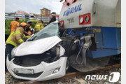 동해 망상서 열차·승용차 충돌 2명 사망