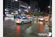 안양 인덕원 '공업용수관 파열' 물난리…일부 도로 통행 재개