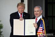 """트럼프 """"이스라엘과 방위조약 논의""""…네타냐후에 힘실어줘"""