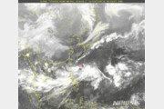 일본 해상에서 발생한 열대저압부 태풍으로 발달 예상