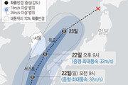 북상 17호 태풍 '타파' 22일 밤 10시 부산 최근접