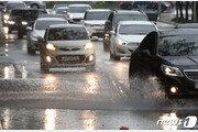 울산도 '물폭탄' 태화강 수위상승…44곳 도로 침수
