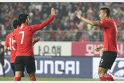 손흥민, 7개월만에 A매치 골…한국, 스리랑카에 전반 5-0 리드