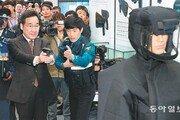 이낙연 총리, 한국형 테이저건 사격 체험