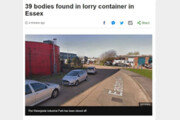 英경찰, 화물차 컨테이너에서 시신 39구 발견…운전사 체포