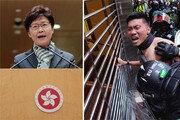홍콩 경찰, 비무장 시위대 접근해오자 권총 뽑아 조준사격