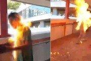 성난 시위대, 친중인사 몸에 불붙여…전신 2도 화상