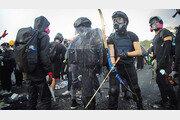 홍콩 시위대가 던진 벽돌 맞은 70대 의식불명
