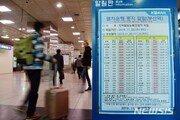 '파업' 부산역 KTX 운행률 68.6%…큰 혼란은 없었다