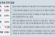 0.03%P差 '한진 남매' 지분경쟁… 모친의 선택은?